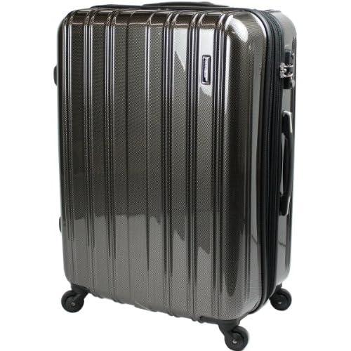 スーツケース TSAロック 搭載 超軽量 レグノライト2013~ 大型 Lサイズ ミラー加工 旅行かばん キャリーバッグ トランク (大型74cm, カーボンブラック)