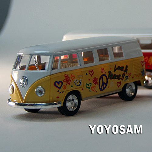 ToySmith 1962 Volkswagon Micro Bus Beetle Die-Cast Collectable VW Van - Yellow