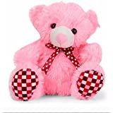 Liviya Teddy Bear With Lace Bow (Light Pink)
