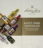 Anthon Berg Dark Chocolate Liqueurs with Original Spirits - 64 pcs. Gift Box (2.2 lbs) by Anthon Berg