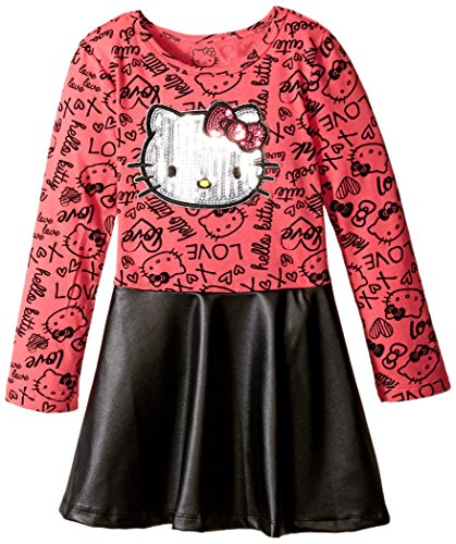 Hello-Kitty-Girls-Long-Sleeve-Dress