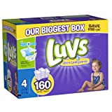 Luvs With Ultra Leakguards Diapers, Size 4, 160 Count