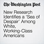 New Research Identifies a 'Sea of Despair' Among White, Working-Class Americans | Joel Achenbach,Dan Keating