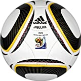adidas WC 2010 Mini Soccer Ball, White/Black/Pure Yellow, 1