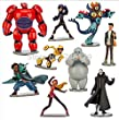 Super Corps Big Hero 6 Hiro Baymax 9pcs/set Action Figure Toys 2014 New Coming Action & Toy Figures