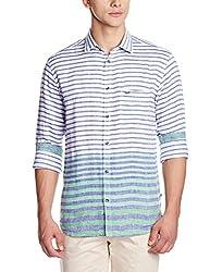 Park Avenue Men's Casual Shirt (8907117087813_PCSZ00809-N4_44_Medium Green)
