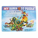 Super 3D Jigsaw Puzzle (The Legend Of Nezha XY-637), Hand Made Educational Smart Mind Games Toys.