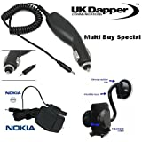 Genuine Nokia 3109 Classic UK 3 Pin Mains Charger AC-5X And In Car Charger + Mobile Car Holder Multi Buy