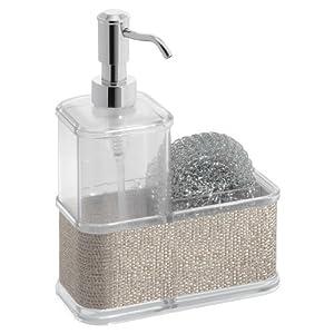 Interdesign Twillo Kitchen Soap Dispenser Pump Sponge And Scrubby Caddy Organizer