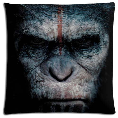 Super-soft Bed Pillow Shell Cases Polyester Cotton Pillow Zippered Dawn of the Planet of the Apes 18x18 inch 45x45 cm