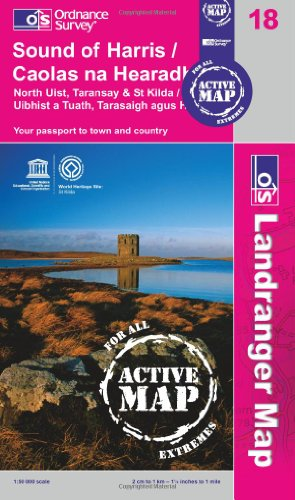 Sound of Harris, North Uist, Taransay & St Kilda  1 : 50 000 (OS Landranger Active Map)