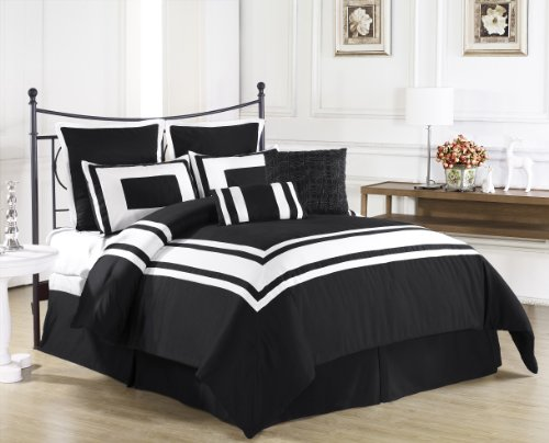 Black And White King Size Bedding 168902 front