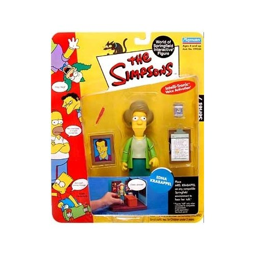 Simpsons Series 7 Edna Krabappel Action Figure