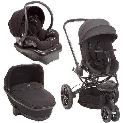 Quinny Moodd Stroller Travel System, Black Devotion With Bassinet