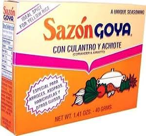 Goya Foods Sazon Culantro y Achiote, 1.41-Ounce