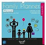 Quo Vadis 238096Q Family planner Calendrier mensuel Scolaire 16 mois Sept/Dec Année 2016-2017...