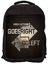 Snoogg Go Right Go Left Backpack Rucksack School Travel Unisex Casual Canvas Bag Bookbag Satchel