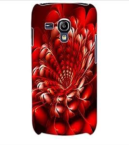 ColourCraft Beautiful Flower Design Back Case Cover for SAMSUNG GALAXY S3 MINI I8190