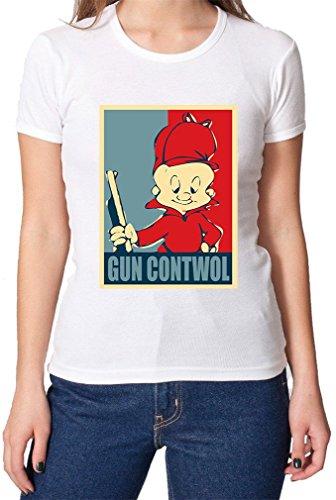 elmer-fudd-gun-contwol-poster-funny-womens-t-shirt-xx-large