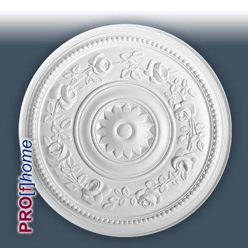ORAC R61 Ceiling Rose Rosette Medallion Centre high quality polyurethane floral decor white | 40 cm = 15.6 inch diameter