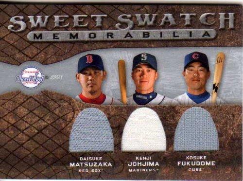 【MLB】松坂大輔・城島健司・福留孝介 2009 Upper Deck Sweet Spot Jersey Card Matsuzaka・Johjima・Fukudome