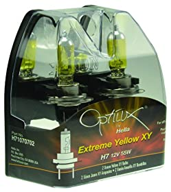 Optilux H71070702 XY Series H7 12V/55W Xenon Yellow Halogen Bulb Set