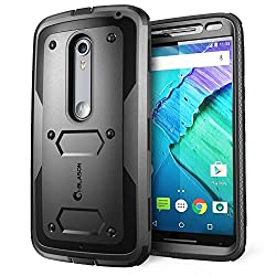 Moto X Pure Edition Case, i-Blason Armorbox Dual Layer Hybrid Full-body Protective Case For Motorola Moto X Style / Pure Edition 2015 with Front Cover and Builtin Screen Protector Bumper(Black)