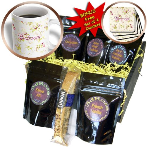 Cgb_171619_1 Florene Decorative Ii - Image Of Shabby Chic Flowers With Word Bedroom - Coffee Gift Baskets - Coffee Gift Basket front-233532