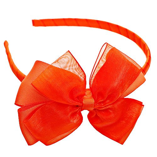 Boutique Girl Accessory HAIRBAND ORANGE Toddler Hair Bow