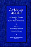img - for Le-David Maskil: A Birthday Tribute for David Noel Freedman (Biblical and Judaic Studies, V. 9) book / textbook / text book