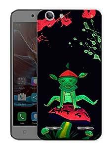 "Alien On Mushroom Neon Trippy Printed Designer Mobile Back Cover For ""Lenovo Vibe K5 - K5 Plus"" By Humor Gang (3D, Matte Finish, Premium Quality, Protective Snap On Slim Hard Phone Case, Multi Color)"