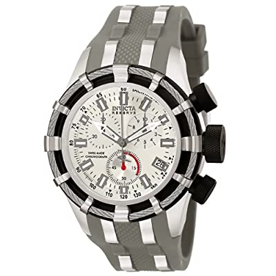 Invicta Men's 6434 Reserve Collection Chronograph Gray Polyurethane Watch