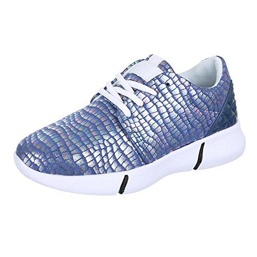 Ital-Design, Sneaker donna, Blu (blu), 38 EU
