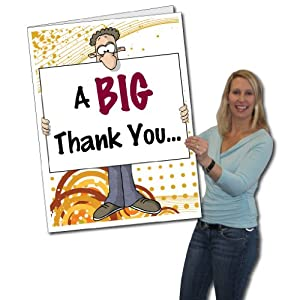 Amazon.com: 2'x3' Giant Thank You Card (Big Nose), W/Envelope: Health & Personal Care
