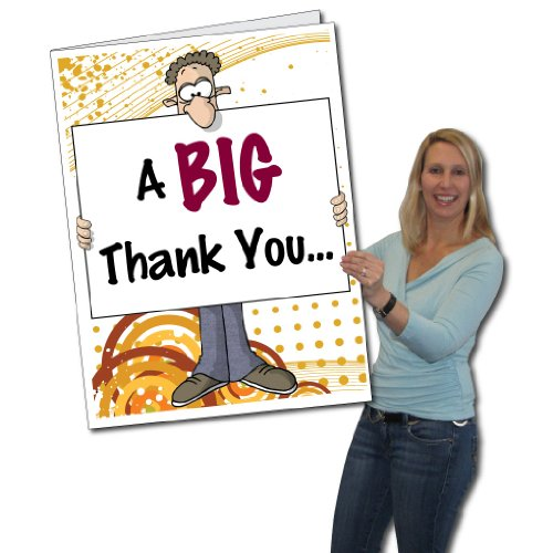2'x3' Giant Thank You Card (Big Nose), W/Envelope