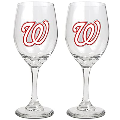 MLB 14-Ounce Wine Glass (Set of Two)