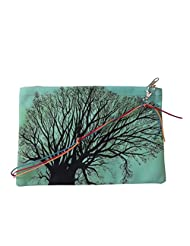 Leaf Designs Blue & Peach Tree Sling Bag