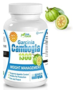 Viva Oasis Pure Garcinia Cambogia Extract with 60% HCA 1000mg of Pure and Potent Garcinia Cambogia Extract. Plus Calcium, Chromium and Potassium. The Extract Formula for Effective All Natural Healthy Weight Loss. Diet Pills. 60 Capsules.