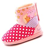 Peppa Pig Cuddles Girls Bootie Slippers