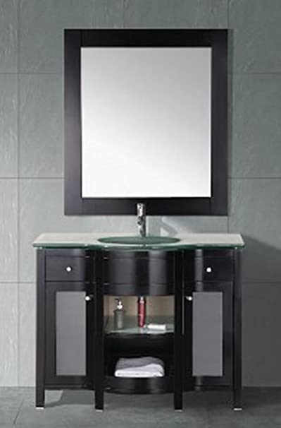 Design Element Rome Single Drop-In Sink Vanity Set, 43-Inch