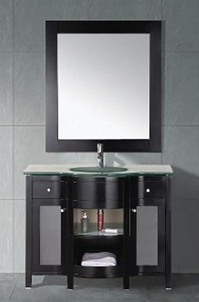 Design Element Rome Single Drop-In Sink Vanity Set, 43-Inch