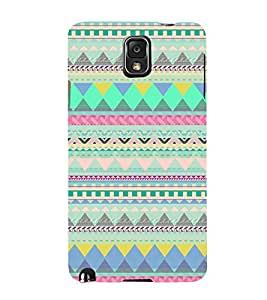 BLUE ETHNIC INDIAN PATTERN 3D Hard Polycarbonate Designer Back Case Cover for Samsung Galaxy Note 3 N9000 :: Samsung Galaxy Note 3 N9002 :: Samsung Galaxy Note 3 N9005 LTE