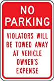 Accuform Signs FRP171RA Engineer-Grade Reflective Aluminum Parking Sign, Legend