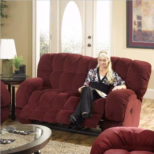 Buy Low Price Catnapper Bordeaux Catnapper Softie Dual Reclining Loveseat (B001L91RA6)