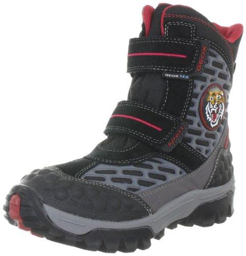 Geox J LT HIMALAYA WFP W Boots Boys Black Schwarz (BLACK/RED C0048) Size: 26