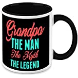 Gift For Grandfather - HomeSoGood Grandpa The Man The Myth The Legend White Ceramic Coffee Mug - 325 Ml