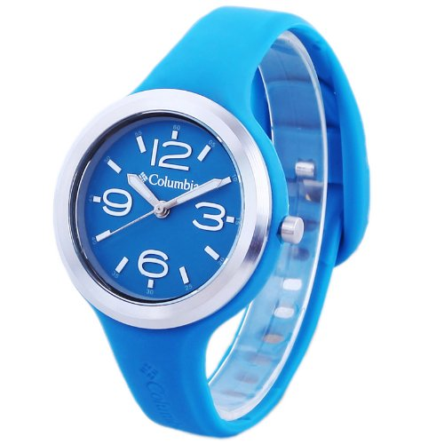 Columbia Columbia Women's CT005410 The Escapade Classic Analog Watch With Dark Turquoise Silicone Strap Watch (Beige\/Sand\/Tan)