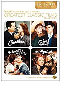 TCM Greatest Classic Films Collection: Best Picture Winners (Casablanca / Gigi / An American in Paris / Mrs. Miniver) (Sous-titres français) [Import]