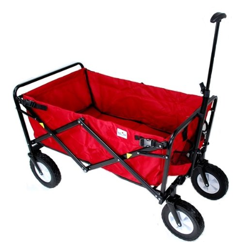 Mac Sports Folding Utility Wagon in Red