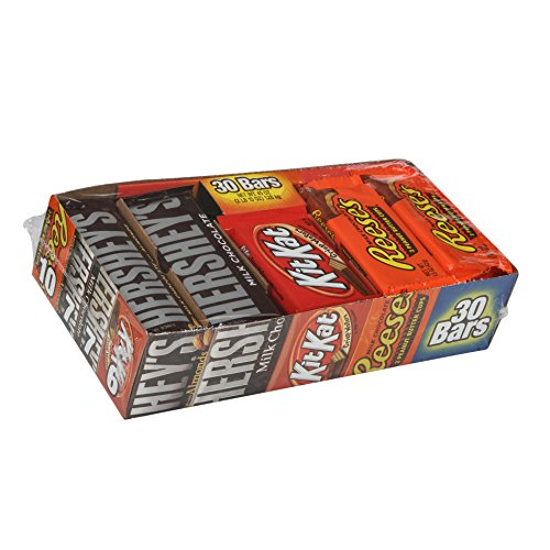 Hershey's Chocolate Full Size Variety Pack, 30-Count Pack